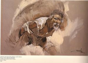 """""""Lelaki Tua dan Beban"""" karya Basuki Abdullah"""