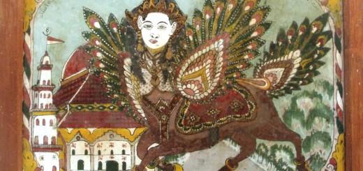 "Salah satu karya dalam Pameran Seni Rupa Tradisi ""Jamila"" di Bentara Budaya Yogyakarta, 15-24 Juli 2014. Karya ini berjudul ""Buraq Madura"". Pelukisnya anonim."