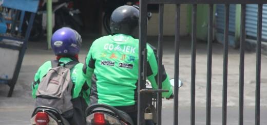 Pengemudi Go-Jek di Yogyakarta